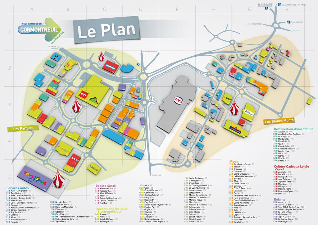 Plan - Zone commerciale cormontreuil ...